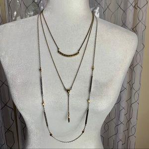 Lucky Brand 3 Strand Necklace